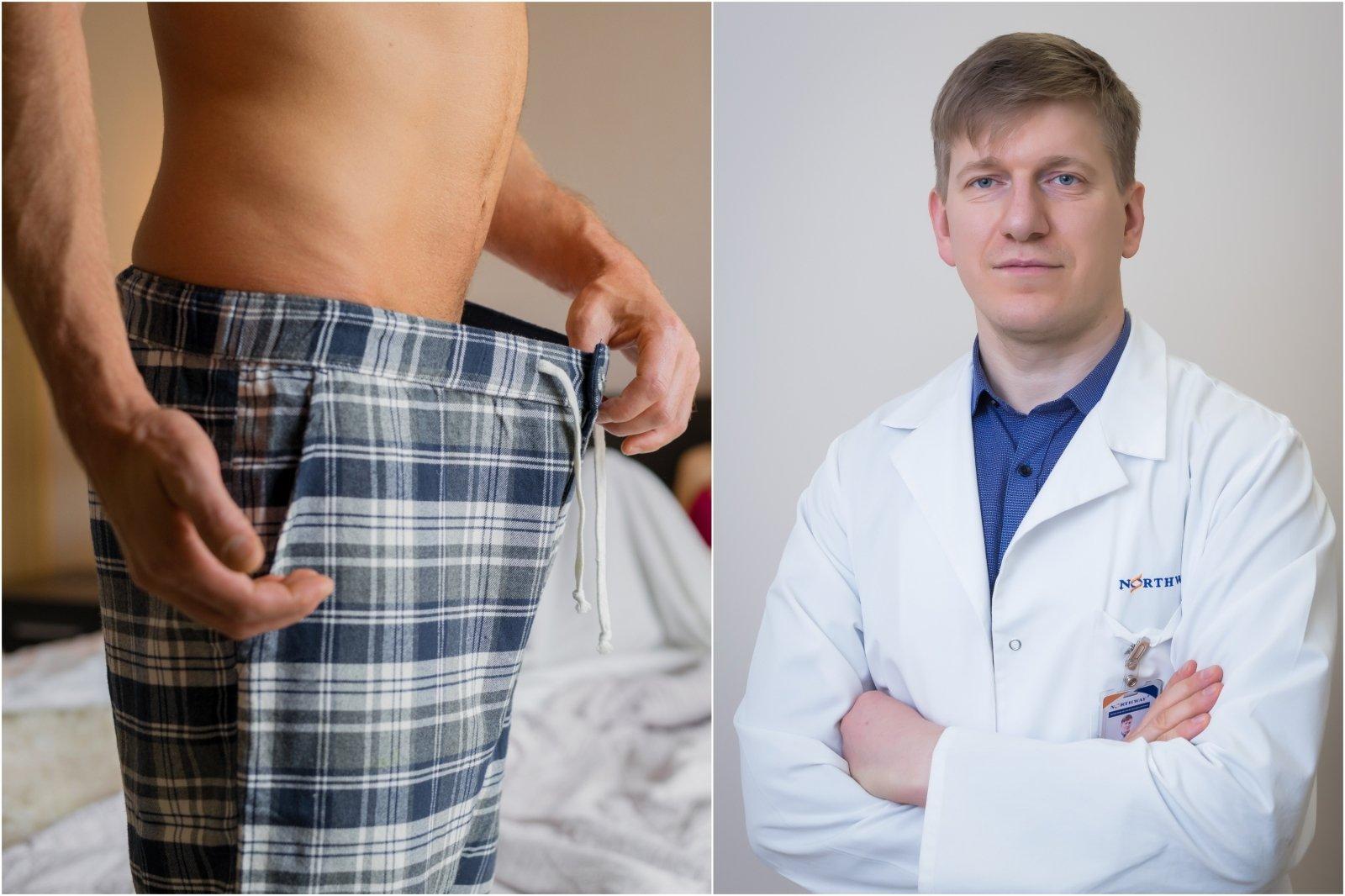 įvairių tipų erekcija